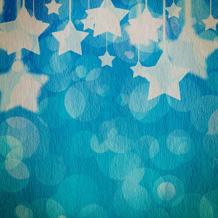 stars on the grunge paper, abstract background  photo