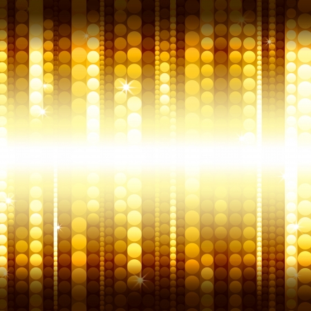 flashy: strips of shiny golden circles, abstract background Stock Photo
