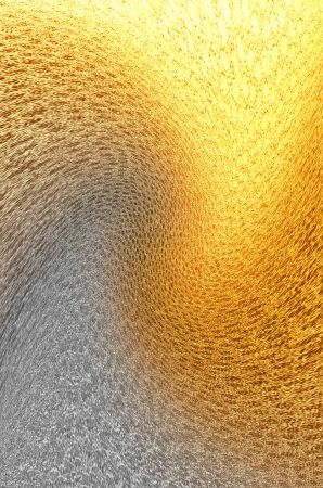 reverberation: texture silver gold leather with uneven illumination Stock Photo