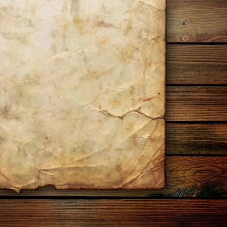 pergamino: Primer plano de papel de pergamino arrugado Foto de archivo