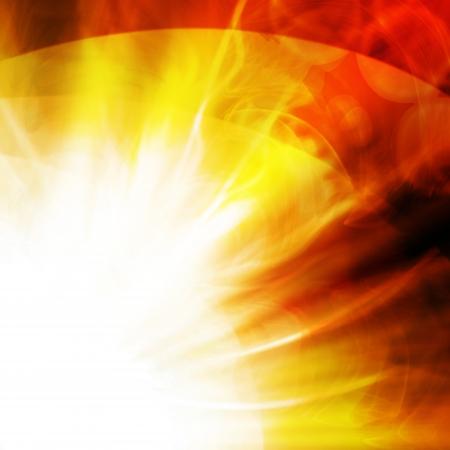 detonation:       abstract flash of sun on a dark background