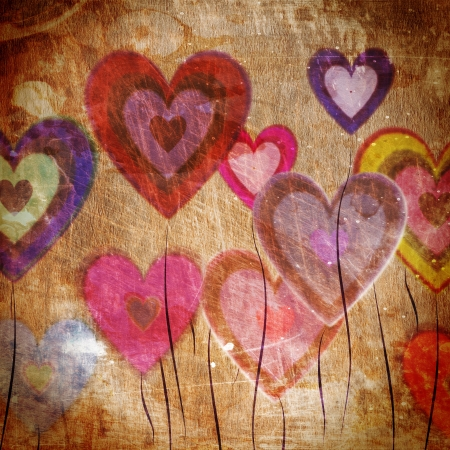 love is it:  grunge love pattern background  with some stains on it