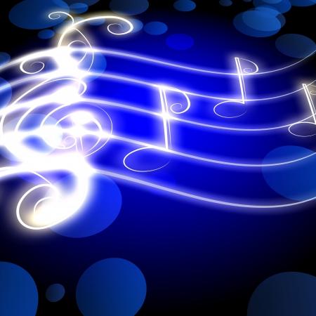 engulfed:  burning musical symbols and curls on a dark background