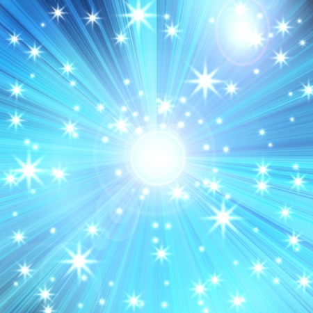 radial glow with rays and stars, abstract background Stock Photo - 16340578