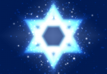 nights: Star of David on a blue background among the stars