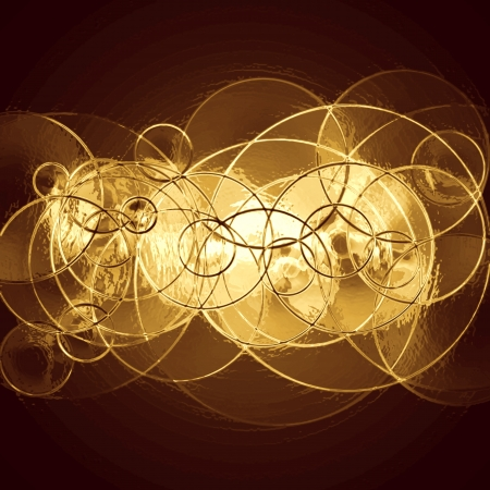 vintage background: abstract metallic background with circles  Stock Photo