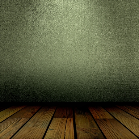 old wall and floor. There is an empty seat for design Stock Photo - 16341547