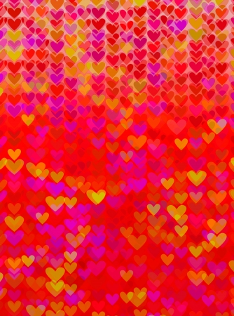 abstract background of the series of lights in the form of heart Stock Photo - 16341414