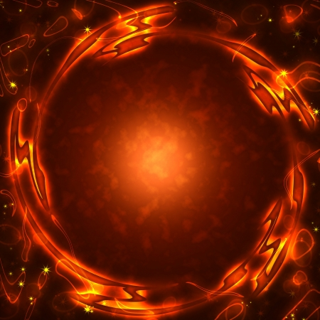 frame of the burning elements, abstract background Stock Photo - 16341451