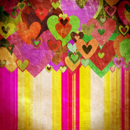 grunge love pattern background with some stains on it Stock Photo - 16341561