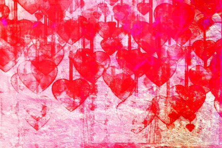 grange:  Heart on Grange background, an abstract figure