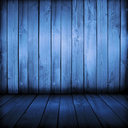 old blue wooden interior, is empty for your design    photo
