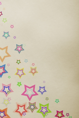 star background on color paper photo