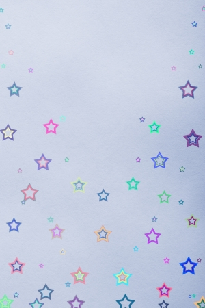 star background on blue paper photo