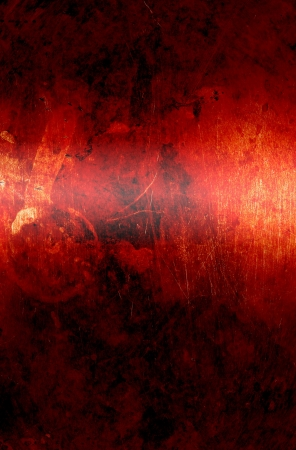 red wall with a grunge background (texture) Stock Photo - 16395702