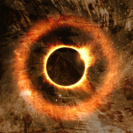 eclipse of the sun on the black, used for the background   photo