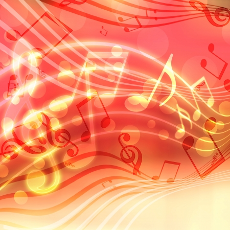 abstract musical background with blurred lights            Stock Photo