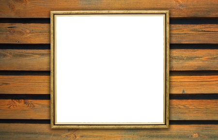 frame, the painting on a wooden background Stock Photo - 16395524