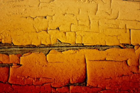 crannied:   crannied old paint on boards, macro Stock Photo