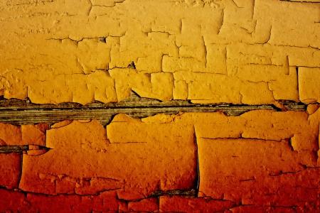 basic scheme:   crannied old paint on boards, macro Stock Photo