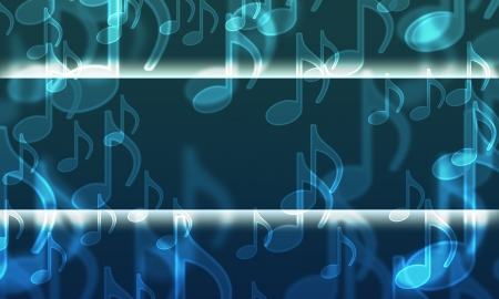 prerequisite: lights in the form of musical symbols on a dark Stock Photo