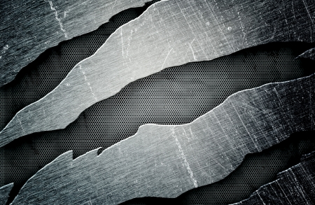 rupture: metal frame, an abstract grunge background