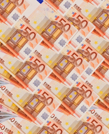 disposed: background of the euro banknotes diagonally disposed Stock Photo
