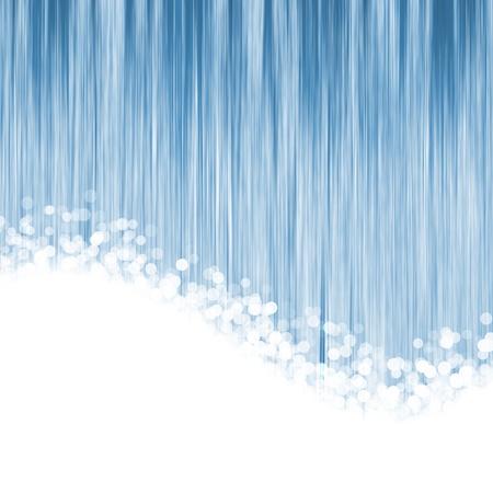 fiber cable: abstracte blauwe achtergrond van luminescerende lijnen met de lichten vervagen Stockfoto