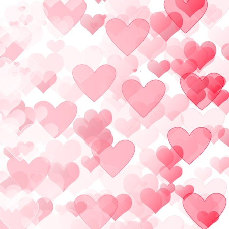 romantic abstract blurred background with hearts photo