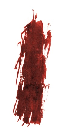 blood stain: spot of blood, isolated on white