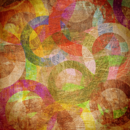 grunge circles on the wall, abstract background Stock Photo - 16488056