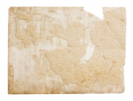 burnt paper: old parchment paper with shabby edges isolated