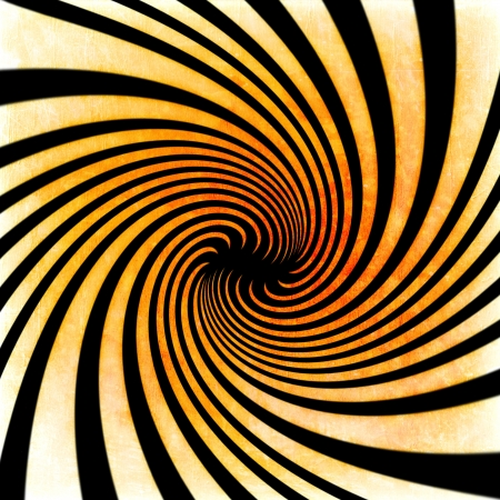 Orange grunge swirl background  black and yellow stripes photo