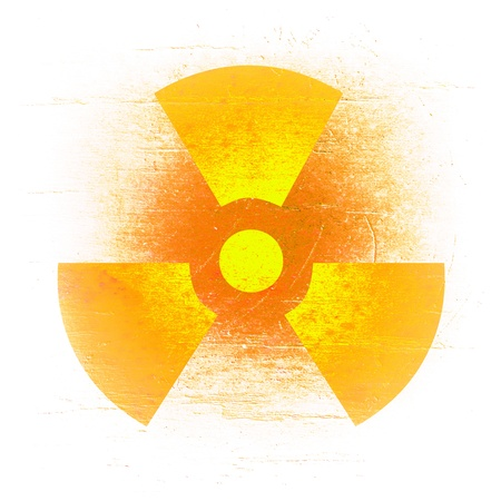 radioactivity symbol on a grungy barrel background  Stock Photo - 16503232