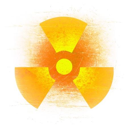 radioactivity symbol on a grungy barrel background Stock Photo - 16503232