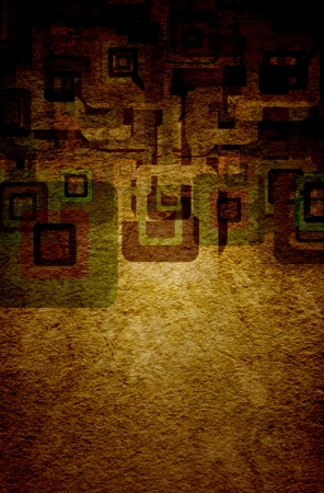 squares on the grunge wall, abstract background Stock Photo - 16503273