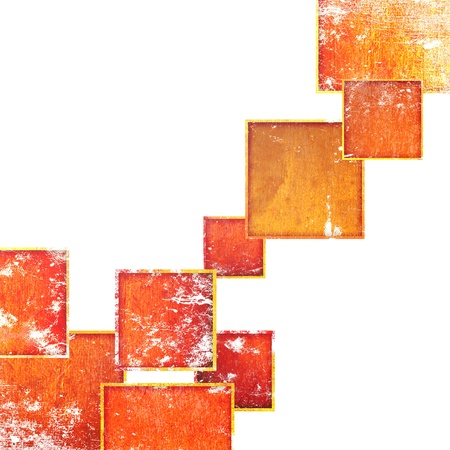 grunge red squares on a white background Stock Photo - 16543248
