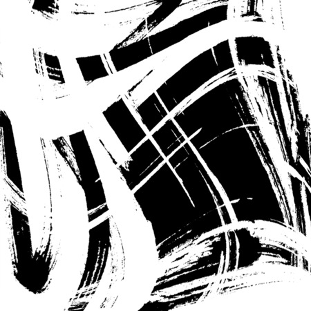 black spot grunge, drawn with a brush on a white Stock Photo