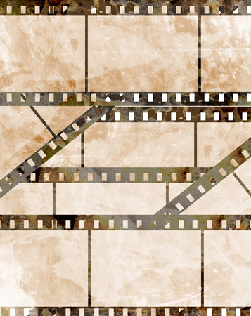 old film strip with some spots photo