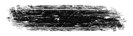 grunge banner black spot , drawn with a brush on a white Stock Photo