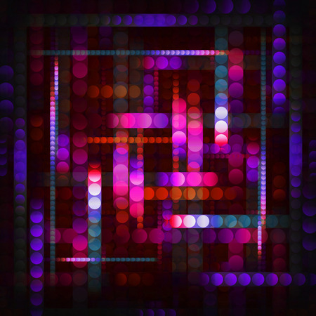 flashy: strips of shiny colored circles, abstract background