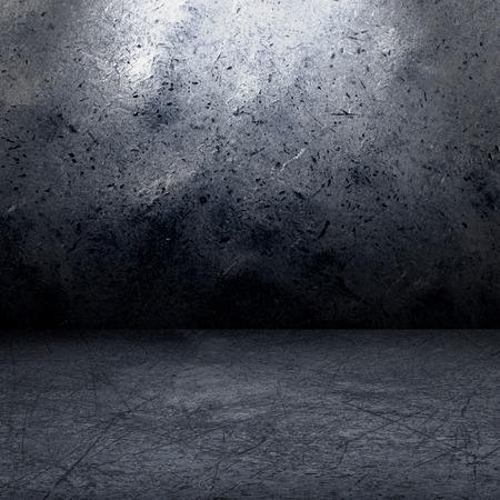 metal interior: grunge metal interior, empty for your design
