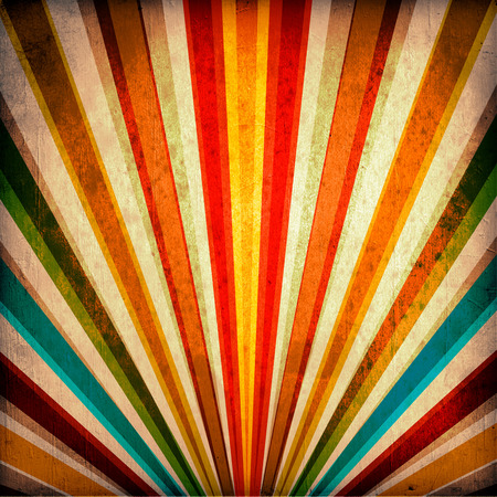 paper roll: Multicolor Sunbeams grunge background. A vintage poster.