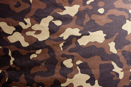 dingy: dingy camouflage on natural canvas Stock Photo