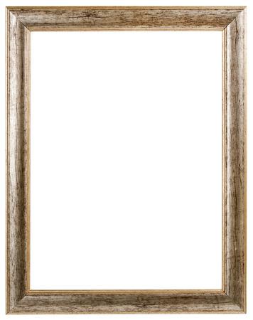 cadre antique: or cadre antique isol� sur fond blanc Banque d'images