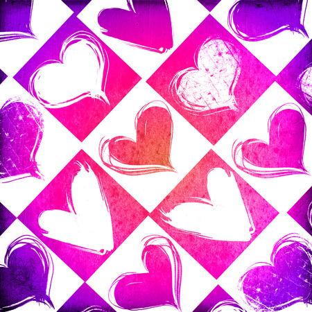 grange: Heart on Grange background, an abstract figure Stock Photo