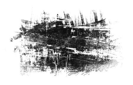 pix: black spot grunge, drawn with a brush on a white Stock Photo