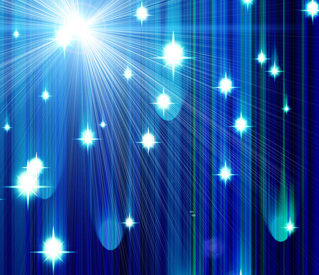 whirling: Glittering stars blurred dark blue background