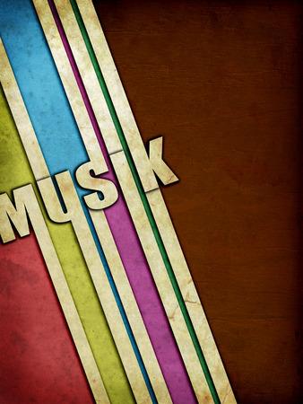 harmonie: Grunge music bands on vintage paper