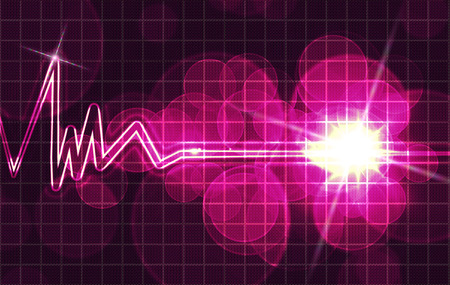 heart monitor: abstract heart monitor on a dark blue background
